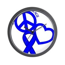 Blue, Courage Wall Clock