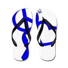 Blue, Courage Flip Flops