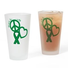 Green, Hope Drinking Glass