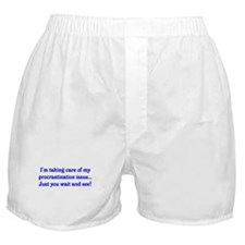 Procrastination Boxer Shorts