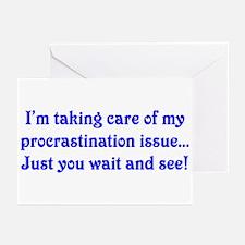 Procrastination Greeting Cards (Pk of 10)