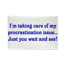 Procrastination Rectangle Magnet