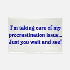 Procrastination Rectangle Magnet