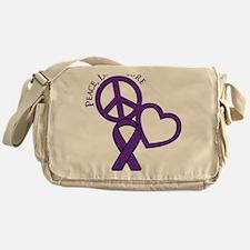 Purple, Cure Messenger Bag