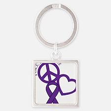 Purple, Cure Square Keychain