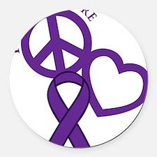 Purple, Cure Round Car Magnet