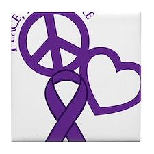 Purple, Cure Tile Coaster