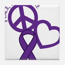 Purple, Cure Tile Coaster