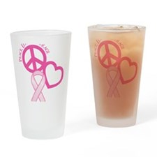 Pink, Courage Drinking Glass