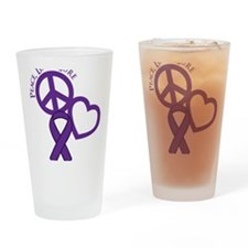 Purple, Cure Drinking Glass