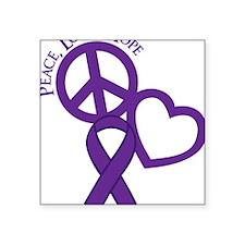 "Purple, Hope Square Sticker 3"" x 3"""