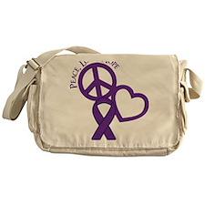Purple, Hope Messenger Bag