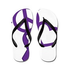 Purple, Hope Flip Flops