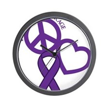 Purple, Courage Wall Clock