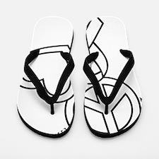 white, Cure Flip Flops