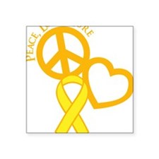 "yellow, Cure Square Sticker 3"" x 3"""