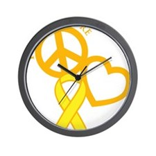 yellow, Cure Wall Clock