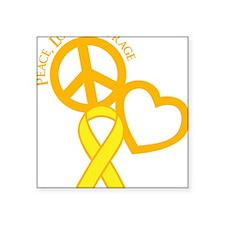 "yellow, Courage Square Sticker 3"" x 3"""