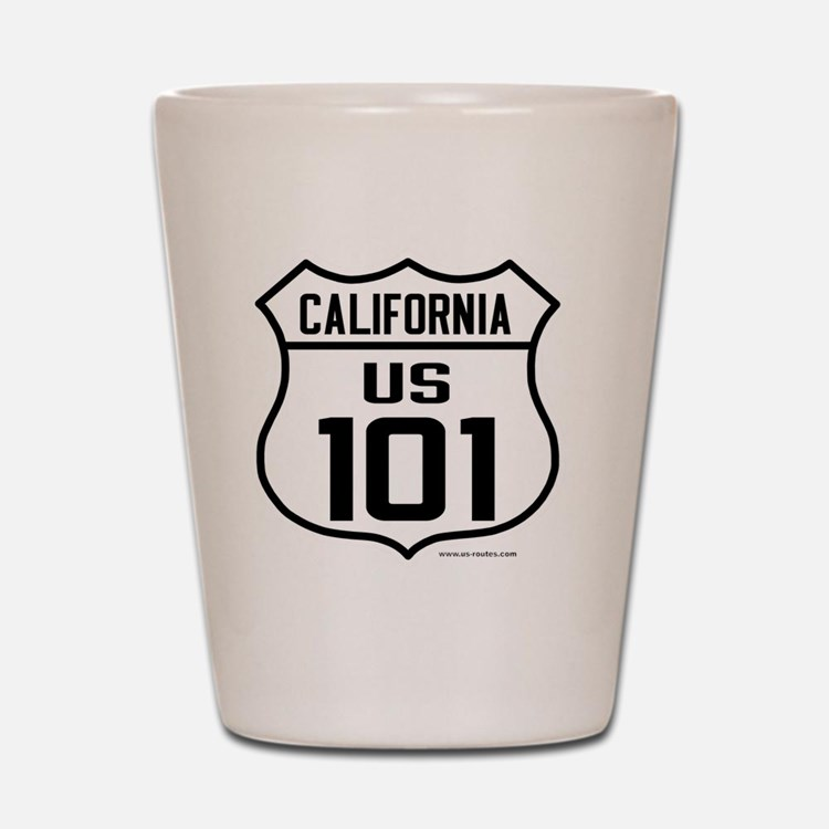 US Route 101 - California Shot Glass