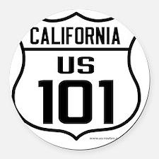 US Route 101 - California Round Car Magnet