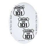 101 highway Oval Ornaments