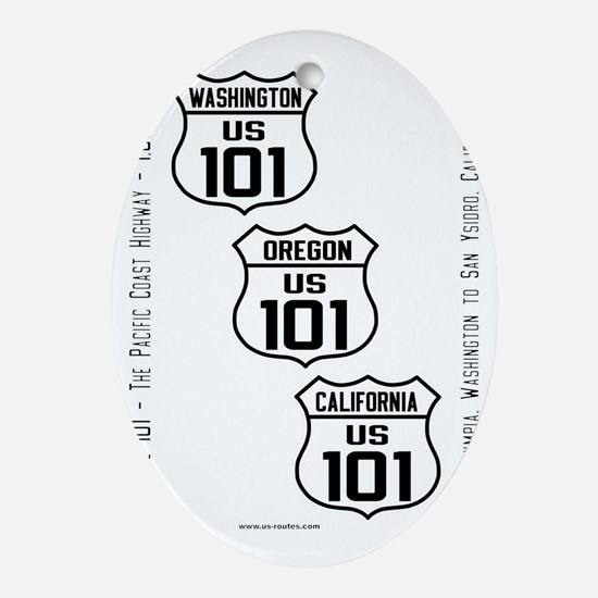 US Route 101 - All - old small Oval Ornament