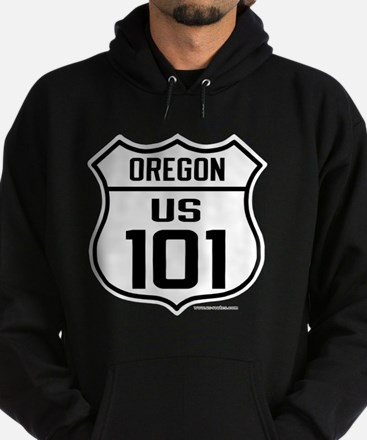 US Highway - Oregon 101 - old Hoodie (dark)