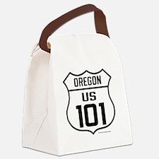 US Highway - Oregon 101 - old Canvas Lunch Bag
