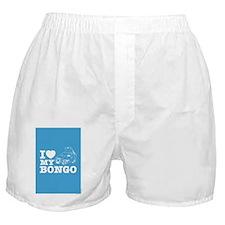 I love my bongo blue Boxer Shorts