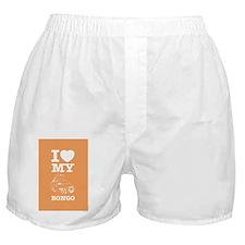 I love my bongo orange Boxer Shorts