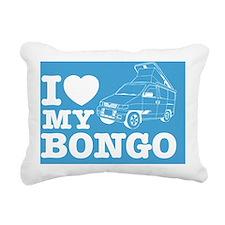 ILUVBONGO_BLUE_10x10_app Rectangular Canvas Pillow