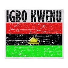 BIAFRA-IGBO Throw Blanket