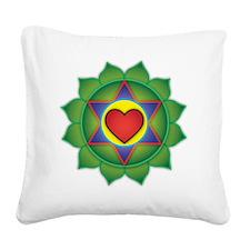 Classic Heart Chakra Square Canvas Pillow