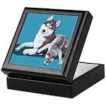 Siberian Husky and Puppy Keepsake Box