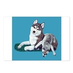 Siberian Husky and Puppy Postcards (Package of 8)