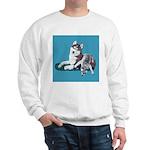 Siberian Husky and Puppy Sweatshirt