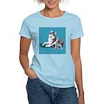 Siberian Husky and Puppy Women's Light T-Shirt
