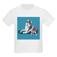 Siberian Husky and Puppy Kids T-Shirt