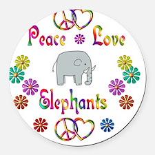 elephant Round Car Magnet