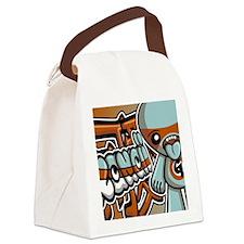 GreedyNoteCardKanji Canvas Lunch Bag