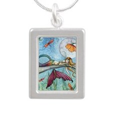 down by the pond cp Silver Portrait Necklace
