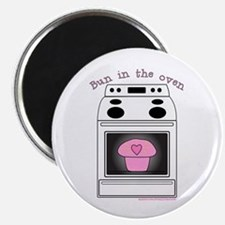 """Bun in the oven"" Pink Magnet"