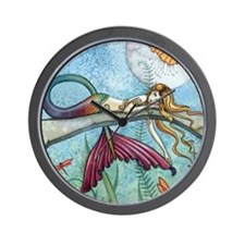 down by the pond horizontal Wall Clock