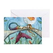 down by the pond horizontal Greeting Card