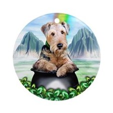 Airedale Pot-O-Gold Ornament (Round)