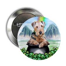 Airedale Pot-O-Gold Button