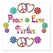 """turtles Square Car Magnet 3"""" x 3"""""""