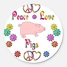 pig Round Car Magnet