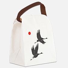 Soaring Cranes Canvas Lunch Bag
