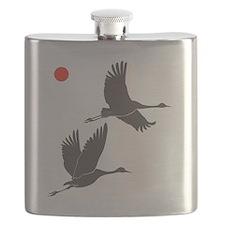 Soaring Cranes Flask